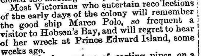 """GENERAL NEWS."" Weekly Times (Melbourne, Vic. : 1869 - 1954) 3 November 1883: http://nla.gov.au/nla.news-article220537072"