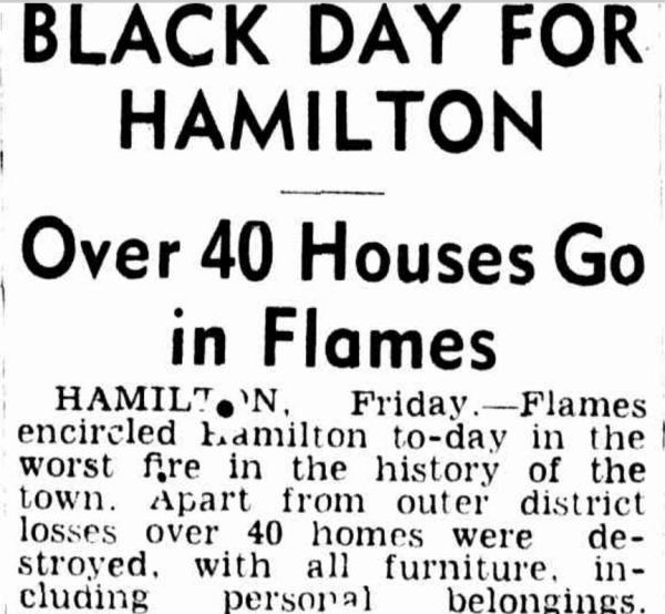 """BLACK DAY FOR HAMILTON"" The Age (Melbourne, Vic. : 1854 - 1954) 15 January 1944: ."