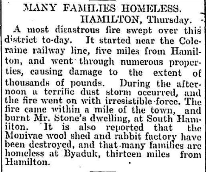 """MANY FAMILIES HOMELESS."" Leader (Melbourne, Vic. : 1862 - 1918) 9 Feb 1901: 18. ."