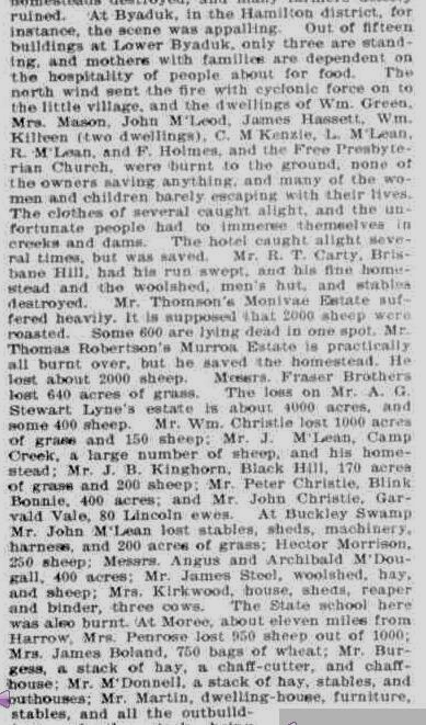 """""""THE VICTORIAN BUSH FIRES."""" Australian Town and Country Journal (Sydney, NSW : 1870 - 1907) 23 February 1901: ."""