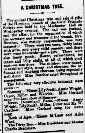 A CHRISTMAS TREE. (1901, December 13). The Horsham Times (Vic. : 1882 - 1954), p. 3. Retrieved December 2, 2012, from http://nla.gov.au/nla.news-article73030958