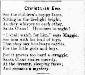 Christmas Eve. (1901, December 24). The Horsham Times (Vic. : 1882 - 1954), p. 2 Supplement: Supplement to the Horsham Times.. Retrieved December 2, 2012, from http://nla.gov.au/nla.news-article73031210