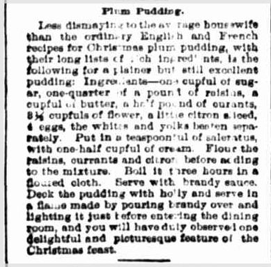Plum Pudding. (1902, March 12). Portland Guardian (Vic. : 1876 - 1953), p. 4 Edition: EVENING. Retrieved December 2, 2012, from http://nla.gov.au/nla.news-article63992065