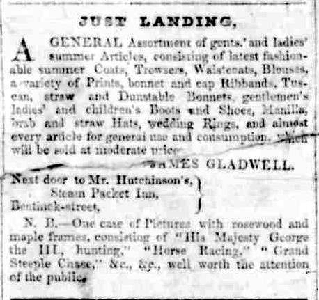 Advertising. (1842, November 19). Portland Guardian and Normanby General Advertiser (Vic. : 1842 - 1876), p. 2. Retrieved November 24, 2012, from http://nla.gov.au/nla.news-article71568834