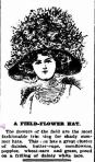 A FIELD-FLOWER HAT. (1909, October 22). The Colac Herald (Vic. : 1875 - 1918), p. 8. Retrieved November 25, 2012, from http://nla.gov.au/nla.news-article91852132