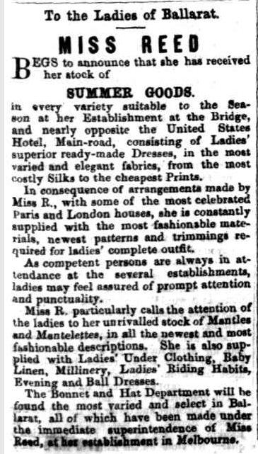 Advertising. (1856, December 27). The Star (Ballarat, Vic. : 1855 - 1864), p. 1. Retrieved December 1, 2012, from http://nla.gov.au/nla.news-article66040226