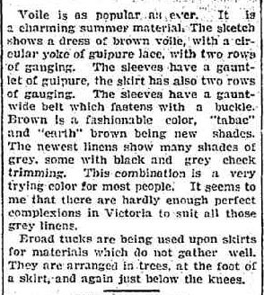 GOSSIP. (1904, September 16). The Colac Herald (Vic. : 1875 - 1918), p. 7. Retrieved November 25, 2012, from http://nla.gov.au/nla.news-article89708376