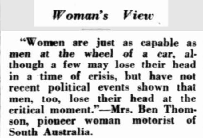 """Woman's View"" The Mail (Adelaide, SA : 1912 - 1954) 25 April 1931: 11. ."