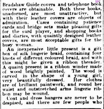 WOMAN'S REALM. (1923, December 18). The Argus (Melbourne, Vic. : 1848 - 1956), p. 14. Retrieved December 13, 2012, from http://nla.gov.au/nla.news-article2000447 MLA citation