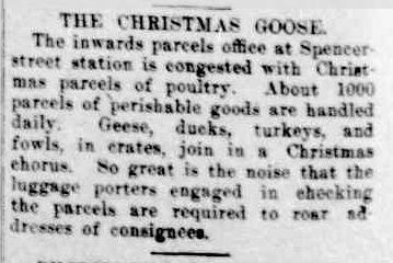 THE CHRISTMAS GOOSE. (1921, December 23). The Horsham Times (Vic. : 1882 - 1954), p. 4. Retrieved December 12, 2012, from http://nla.gov.au/nla.news-article72727852