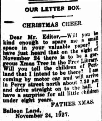 OUR LETTER BOX. (1927, November 14). Portland Guardian (Vic. : 1876 - 1953), p. 2 Edition: EVENING. Retrieved December 13, 2012, from http://nla.gov.au/nla.news-article64259155