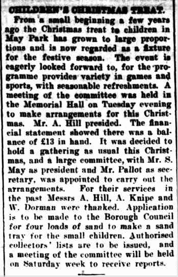 CHILDREN'S CHRISTMAS TREAT. (1924, November 21). The Horsham Times (Vic. : 1882 - 1954), p. 6. Retrieved December 12, 2012, from http://nla.gov.au/nla.news-article72752604