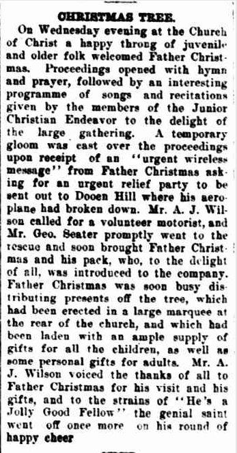 CHRISTMAS TREE. (1925, December 18). The Horsham Times (Vic. : 1882 - 1954), p. 6. Retrieved December 12, 2012, from http://nla.gov.au/nla.news-article73011596
