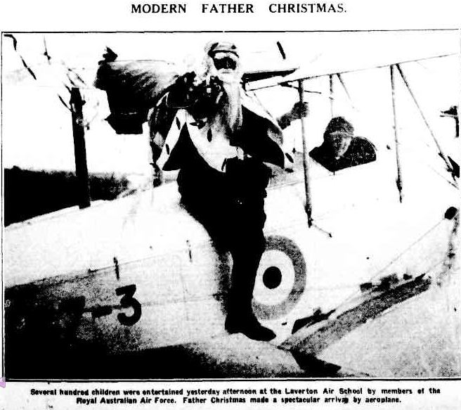 MODERN FATHER CHRISTMAS. (1929, December 7). The Argus (Melbourne, Vic. : 1848 - 1956), p. 17. Retrieved December 14, 2012, from http://nla.gov.au/nla.news-article4055264