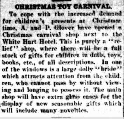 CHRISTMAS TOY CARNIVAL. (1926, November 26). The Horsham Times (Vic. : 1882 - 1954), p. 4. Retrieved December 12, 2012, from http://nla.gov.au/nla.news-article73017110