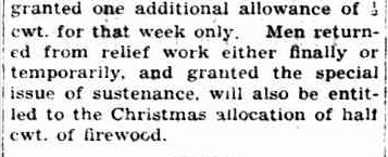 CHRISTMAS SUSTENANCE SPECIAL ISSUE TO FAMILIES. (1938, December 2). The Horsham Times (Vic. : 1882 - 1954), p. 4. Retrieved December 15, 2012, from http://nla.gov.au/nla.news-article73186034