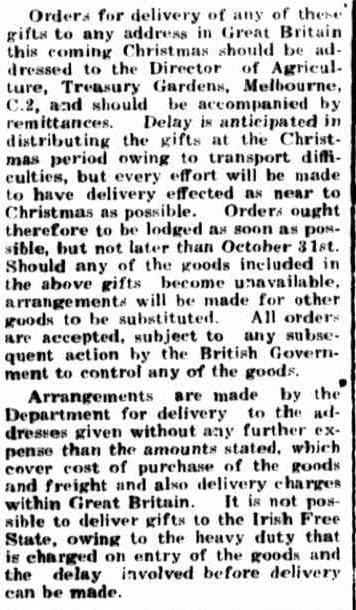 CHRISTMAS GIFTS. (1939, October 23). Portland Guardian (Vic. : 1876 - 1953), p. 3 Edition: EVENING.. Retrieved December 15, 2012, from http://nla.gov.au/nla.news-article64394241