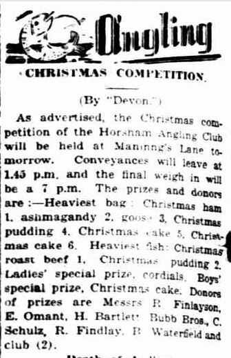 angling. (1939, December 8). The Horsham Times (Vic. : 1882 - 1954), p. 6. Retrieved December 15, 2012, from http://nla.gov.au/nla.news-article73144147