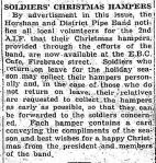 SOLDIERS' CHRISTMAS HAMPERS. (1939, December 19). The Horsham Times (Vic. : 1882 - 1954), p. 2. Retrieved December 15, 2012, from http://nla.gov.au/nla.news-article73144465