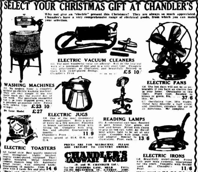Advertising. (1936, December 4). The Argus (Melbourne, Vic. : 1848 - 1956), p. 15. Retrieved December 16, 2012, from http://nla.gov.au/nla.news-article11943599