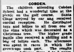 COBDEN. (1935, December 28). Camperdown Chronicle (Vic. : 1877 - 1954), p. 7. Retrieved December 16, 2012, from http://nla.gov.au/nla.news-article32177289