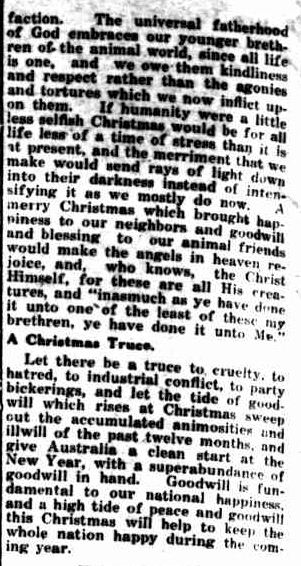 Christmas. (1930, December 24). Portland Guardian (Vic. : 1876 - 1953), p. 2 Edition: EVENING. Retrieved December 16, 2012, from http://nla.gov.au/nla.news-article64294022