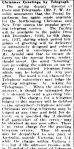 Christmas Greetings by Telegraph. (1936, December 7). Portland Guardian (Vic. : 1876 - 1953), p. 2 Edition: EVENING.. Retrieved December 15, 2012, from http://nla.gov.au/nla.news-article64274441