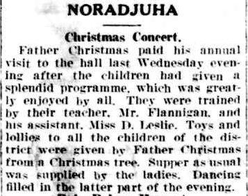 NORADJUHA. (1940, December 24). The Horsham Times (Vic. : 1882 - 1954), p. 4. Retrieved December 18, 2012, from http://nla.gov.au/nla.news-article73155694