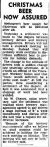 CHRISTMAS BEER HOW ASSURED. (1947, December 20). The Argus (Melbourne, Vic. : 1848 - 1956), p. 1. Retrieved December 20, 2012, from http://nla.gov.au/nla.news-article22529758
