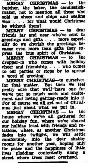 Christmas !. (1941, December 19). Williamstown Chronicle (Vic. : 1856 - 1954), p. 2 Supplement: Greetings Our Christmas Supplement. Retrieved December 18, 2012, from http://nla.gov.au/nla.news-article70713662