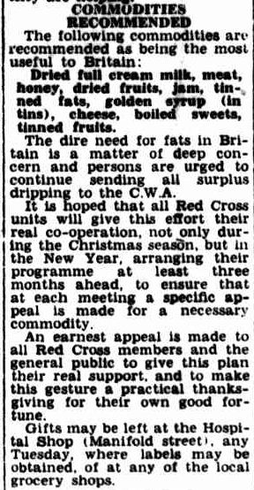 Christmas Food For Britain. (1947, December 15). Camperdown Chronicle (Vic. : 1877 - 1954), p. 1 Edition: Afternoons.. Retrieved December 19, 2012, from http://nla.gov.au/nla.news-article65243667
