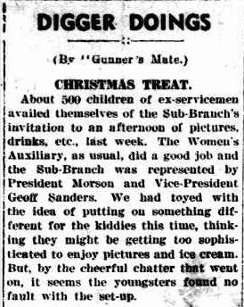 DIGGER DOINGS. (1948, December 31). The Horsham Times (Vic. : 1882 - 1954), p. 5. Retrieved December 19, 2012, from http://nla.gov.au/nla.news-article73093199