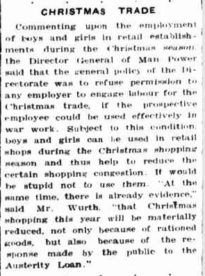 CHRISTMAS TRADE. (1942, December 7). Portland Guardian (Vic. : 1876 - 1953), p. 3 Edition: EVENING. Retrieved December 19, 2012, from http://nla.gov.au/nla.news-article64383060