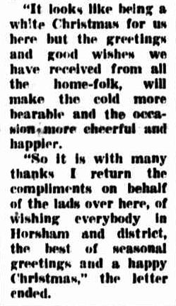 Soldier Sends Christmas Greetings From Korea. (1953, December 18). The Horsham Times (Vic. : 1882 - 1954), p. 1. Retrieved December 21, 2012, from http://nla.gov.au/nla.news-article72776493