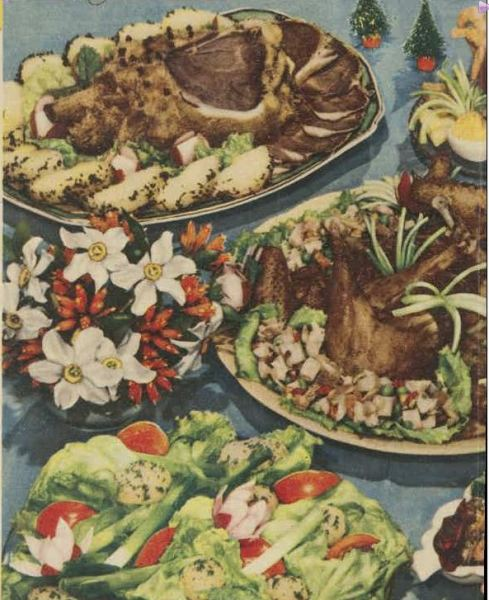 Christmas Buffet. (1950, December 23). The Australian Women's Weekly (1933 - 1982), p. 38. Retrieved December 21, 2012, from http://nla.gov.au/nla.news-article47806519
