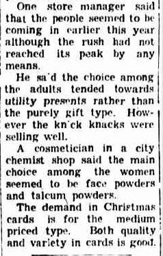 SHOPS READY. (1953, December 18). The Horsham Times (Vic. : 1882 - 1954), p. 1. Retrieved December 21, 2012, from http://nla.gov.au/nla.news-article72776491