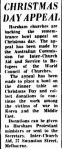 CHRISTMAS DAY APPEAL. (1952, December 23). The Horsham Times (Vic. : 1882 - 1954), p. 6. Retrieved December 21, 2012, from http://nla.gov.au/nla.news-article72788113