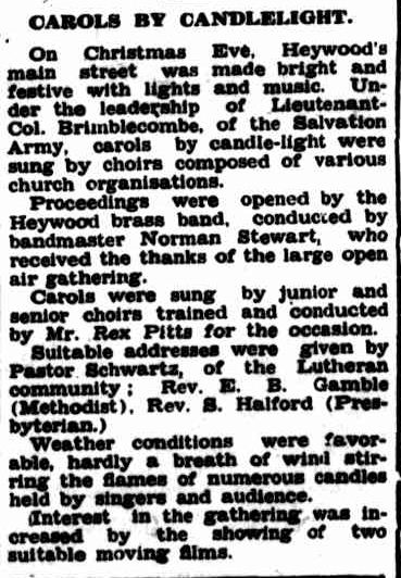 CAROLS BY CANDLELIGHT. (1953, January 5). Portland Guardian (Vic. : 1876 - 1953), p. 3 Edition: MIDDAY. Retrieved December 21, 2012, from http://nla.gov.au/nla.news-article64433618