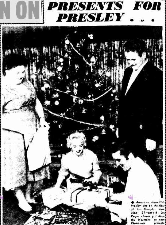 PRESENTS FOR PRESLEY... (1957, January 2). The Argus (Melbourne, Vic. : 1848 - 1956), p. 2. Retrieved December 23, 2012, from http://nla.gov.au/nla.news-article71774164