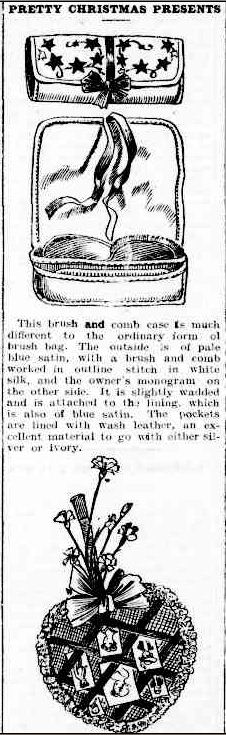 PRETTY CHRISTMAS PRESENTS. (1905, December 1). The Colac Herald (Vic. : 1875 - 1918), p. 6. Retrieved December 3, 2012, from http://nla.gov.au/nla.news-article87609734