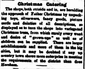 Christmas Catering. (1906, December 21). The Horsham Times (Vic. : 1882 - 1954), p. 2. Retrieved December 3, 2012, from http://nla.gov.au/nla.news-article72937123