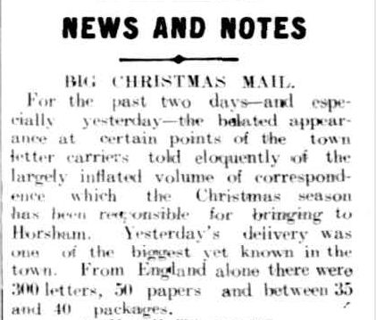 NEWS AND NOTES. (1909, December 24). The Horsham Times (Vic. : 1882 - 1954), p. 3. Retrieved December 4, 2012, from http://nla.gov.au/nla.news-article72964368