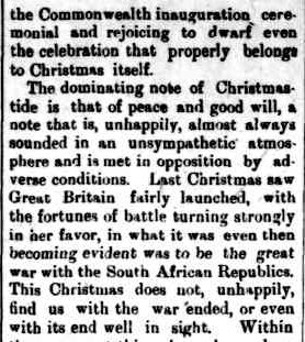 The Horsham Times. (1900, December 21). The Horsham Times (Vic. : 1882 - 1954), p. 2. Retrieved December 4, 2012, from http://nla.gov.au/nla.news-article73025219