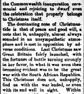 The Horsham Times. (1900, December 21). The Horsham Times (Vic. : 1882 - 1954), p. 2. Retrieved December 4, 2012, from http://nla.gov.au/nla.news-article73025219