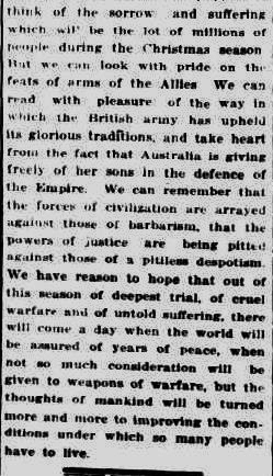 The Colac Herald. (1914, December 23). The Colac Herald (Vic. : 1875 - 1918), p. 2. Retrieved December 9, 2012, from http://nla.gov.au/nla.news-article74265363
