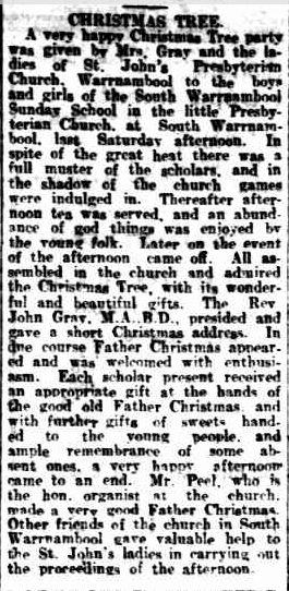 CHRISTMAS TREE. (1917, December 29). Warrnambool Standard (Vic. : 1914 - 1918), p. 3 Edition: DAILY.. Retrieved December 9, 2012, from http://nla.gov.au/nla.news-article73974530