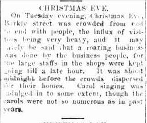 CHRISTMAS EVE. (1918, December 28). The Ararat advertiser (Vic. : 1914 - 1918), p. 3 Edition: tri-weekly. Retrieved December 9, 2012, from http://nla.gov.au/nla.news-article74285291