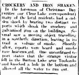 CROCKERY AND IRON SHAKEN. (1919, December 30). The Horsham Times (Vic. : 1882 - 1954), p. 5. Retrieved December 9, 2012, from http://nla.gov.au/nla.news-article73188328