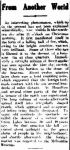 From Another World. (1919, December 30). The Horsham Times (Vic. : 1882 - 1954), p. 5. Retrieved December 9, 2012, from http://nla.gov.au/nla.news-article73188314