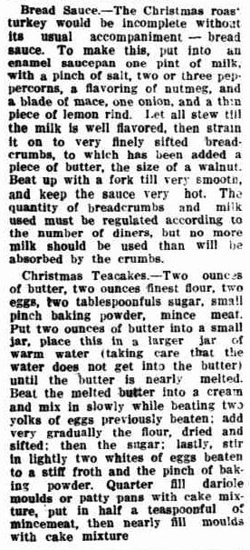 XMAS HINTS AND RECIPES. (1912, December 20). The Horsham Times (Vic. : 1882 - 1954), p. 35 Supplement: CHRISTMAS SUPPLEMENT 1912 Horsham Times.. Retrieved December 9, 2012, from http://nla.gov.au/nla.news-article73132554